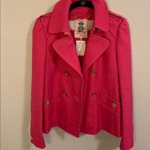 Juicy Couture lined pink jacket